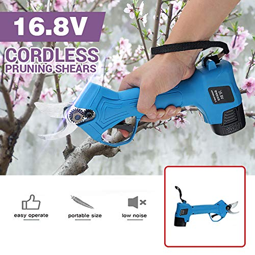 Read About ZDYLM-Y Cordless Electric Pruning Shears, 16.8V Branch Pruning Shear Lithium Battery Rech...