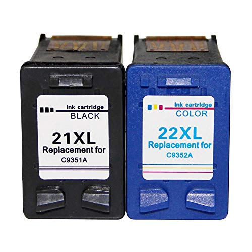 LIUYB Veteranos Cartuchos de Tinta FO HP21 22 HP22 for HP DeskJet F2280 F2180 F4180 F300 F380 F2100 F2200 Impresoras (Color : 21 BK and 22 Color)