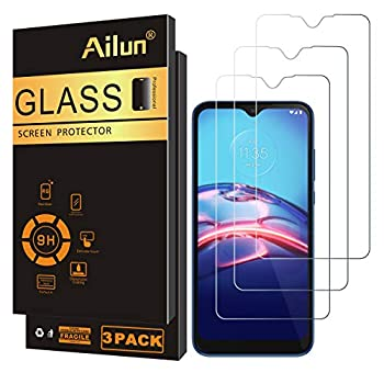 Ailun Screen Protector for Moto E  2020  3 Pack Tempered Glass 9H Hardness 0.33MM Ultra Clear Bubble Free Anti-Scratch Fingerprint Oil Stain Coating Case Friendly
