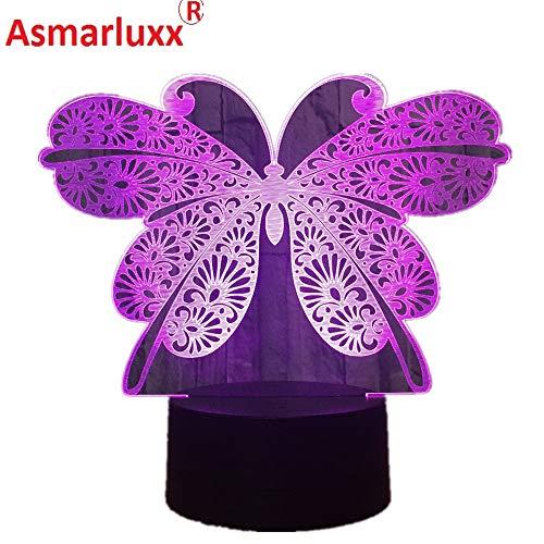 Hermosa Nueva Mariposa Cambio de Color de la luz Interruptor táctil Toque Luces de la Sala Regalo de cumpleaños de niña Regalo de cumpleaños