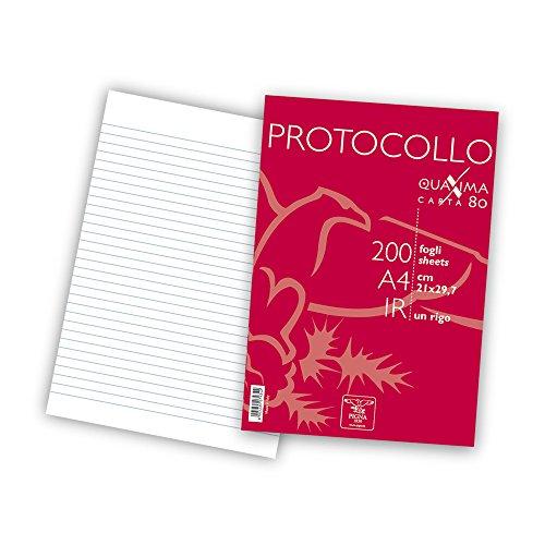 Pigna 02156211R Protocollo in risma, confezione da 200 fogli