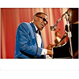Ray Jamie Foxx as Ray Charles Playing Piano in Blue Tuxedo Jacket and Microphone Close Shot 8 x 10 inch photo