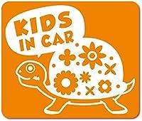 imoninn KIDS in car ステッカー 【マグネットタイプ】 No.53 カメさん (オレンジ色)