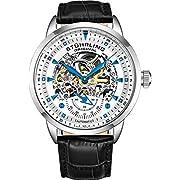 Stuhrling Original Men's 133.33152 Executive Automatic Skeleton Black Genuine Leather Strap Watch