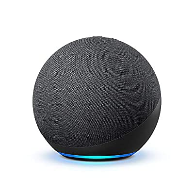 Echo (4th Gen) | With premium sound, smart home hub, and Alexa | Charcoal from Amazon