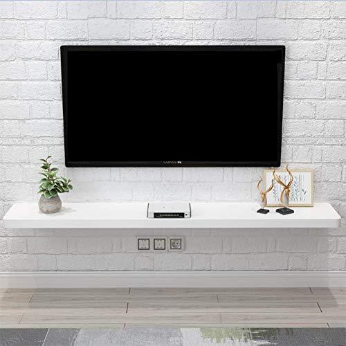 ESGT TV Étagère Flottante Chambre Salon Étagère Murale Meuble De Télévision Meuble TV Routeur WiFi Décodeur Lecteur DVD Projecteur Étagère Console De Télévision