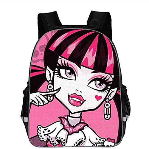 Ksydhwd Zaino scuola Fashion Child Cartoon Monster High Zaino Boy School Bags Bagpack Per Bambini Studentessa Book Bags Mochila 13 Pollici