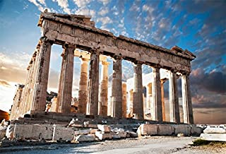 Yeele 6x4ft Acropolis Ancient Ruin Site Backdrop Vinyl Parthenon Temple Marble Pillar Greece Landmark Building Photography Background Baby Adult Travel Portraits Photo Booth Shooting Studio Props