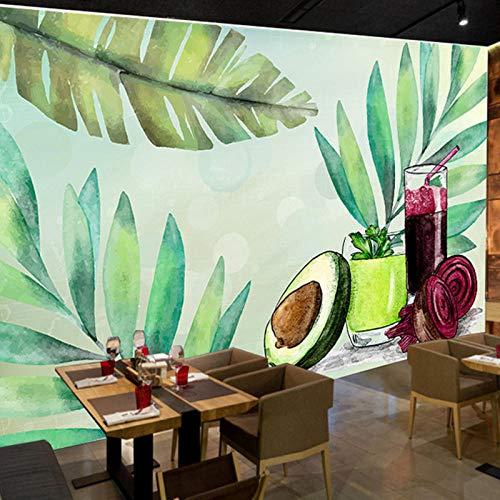 Muurbehang, Fruit Groente Voeding Sap Thee Restaurant Behang, Woonkamer Slaapkamer Achtergrond Behang muurschildering 280 cm (B) x 180 cm (H)