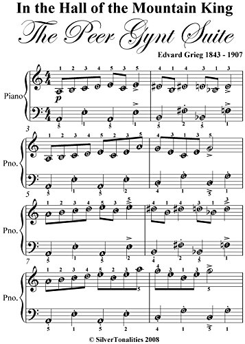 In the Hall of the Mountain King Grieg Easy Piano Sheet Music