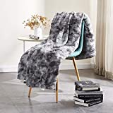 """Rose Home Fashion RHF Faux Fur Throw Blankets, Gothic Decor, Fuzzy Blanket, Soft Blanket, Throw Blanket for Couch, Plush Blanket, Fur Blanket, Fluffy Blanket, (Grey, Throw50"""" x 60"""")"""
