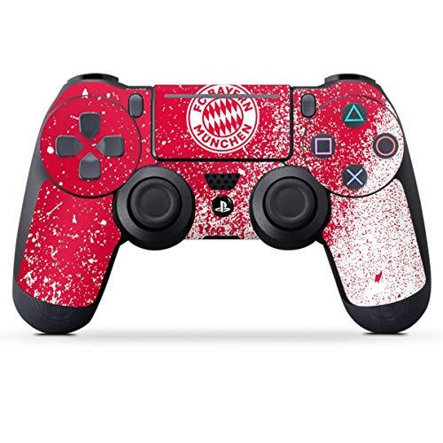 DeinDesign Skin kompatibel mit Sony Playstation 4 PS4 Slim Controller Folie Sticker FC Bayern München Offizielles Lizenzprodukt FCB