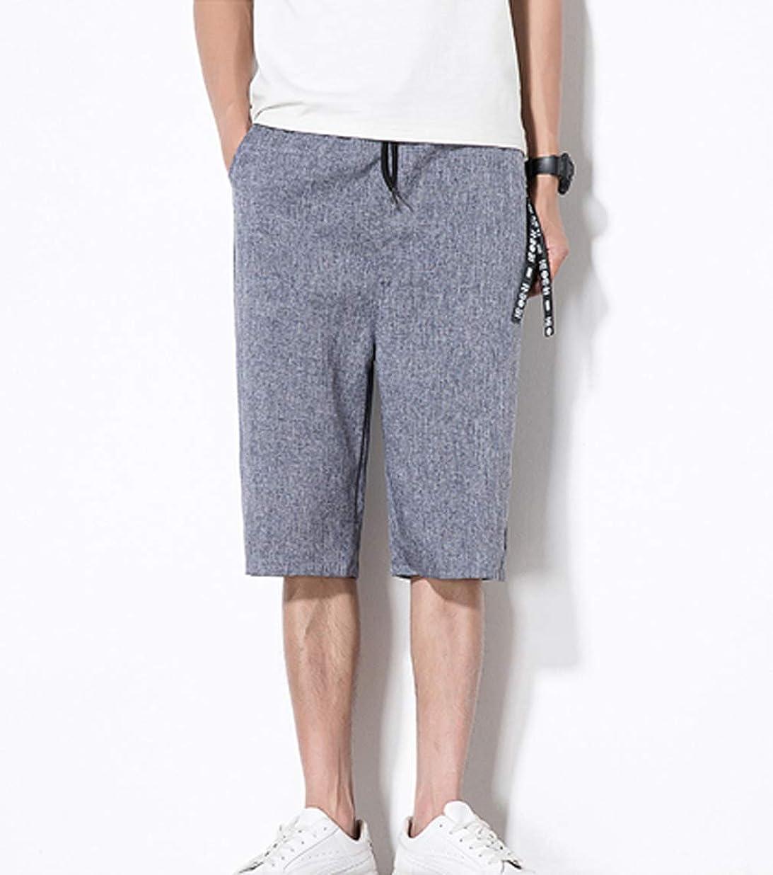 モッキンバードと組むペイント[ Smaids x Smile (スマイズ スマイル) ]服 パンツ ズボン ワイドパンツ ハーフパンツ 七分丈 カジュアル 涼 メンズ