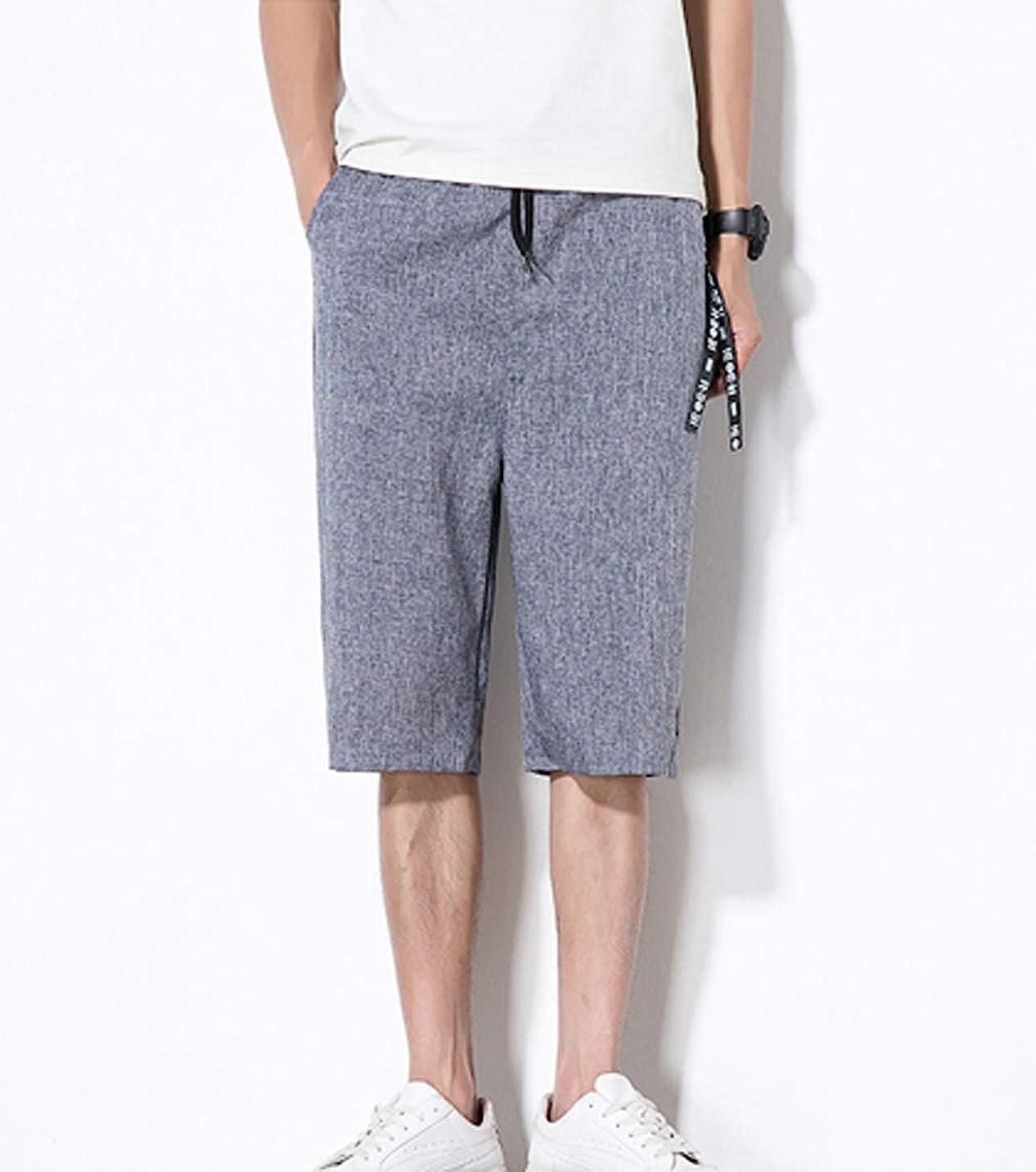 一伝統的聴く[ Smaids x Smile (スマイズ スマイル) ]服 パンツ ズボン ワイドパンツ ハーフパンツ 七分丈 カジュアル 涼 メンズ