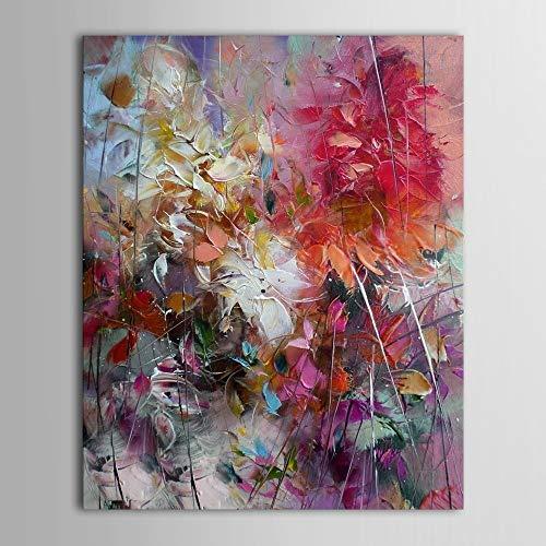 Geiqianjiumai Grote bloem paars abstracte moderne olie schilderij woonkamer muur kunst schilderen huisdecoratie schilderij frameloze schilderij