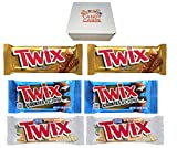 TWIX Cookie Bars, Variety Box (6-Count) (Caramel Chocolate - Cookies & Creme - White)