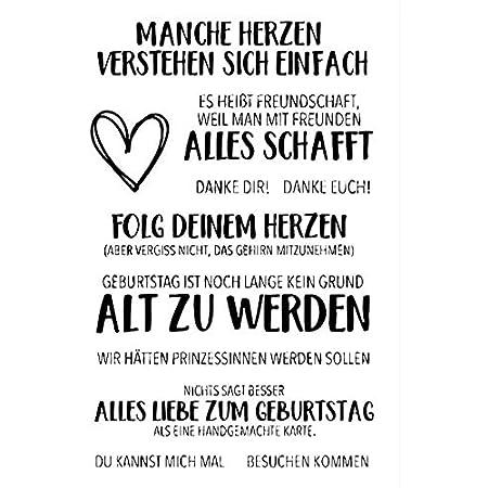 Deutsches Wort Transparent Clear Silicone Stamp//Siegel f/ür DIY Scrapbooking//Fotoalbum Dekorative Briefmarkenbogen///A1488