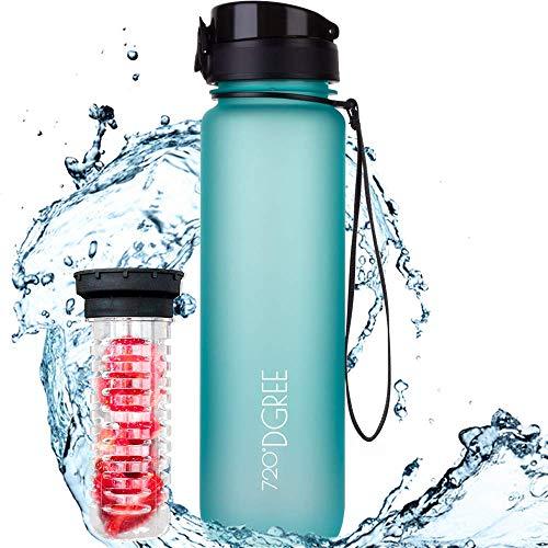 "720°DGREE Kids & Sport Water Bottle ""uberBottle"" - 500 ml - With Fruit-Infuser, BPA-Free Tritan, Leakproof, Reusable Drinking Bottle - Waterbottle for Children, School, Gym, Fitness, Running, Travel"