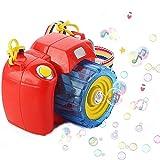 Trusmile Camera Bubble Machine with Bubble Solution -Automatic Bubble Blower for Kids-More Than 500 Bubbles per Minute-Fun and Convenient -Assorted Color