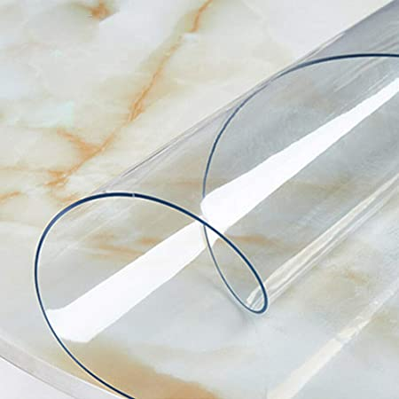 Nappe ronde 2 mm Extra /épais Transparent 90 100 110 120 cm Film de protection pour nappe Transparent Taille /Ø 100 cm