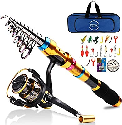 BNTTEAM 99% Carbon Telescopic Fishing Rod Retractable Ultra Light Rod Carbon 2.1M 2.4M 3.0M Travel Fishing Rod Spinning Fishing Pole from BNTTEAM