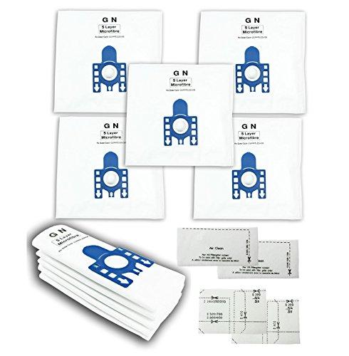 First4spares Typ GN hohe Filtration Tuch Staub-Beutel für Miele Staubsauger (Packung mit 10 + 2 Motor und Luftfilter)