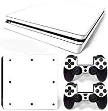 FriendlyTomato PS4 Slim Console and DualShock 4 Controller Skin Set - White Color - PlayStation 4 Vinyl