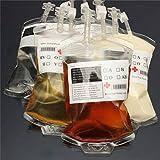 Amosfun Halloween Reusable Blood Energy Drink Bag Halloween Pouch Props Vampire Halloween Supplies