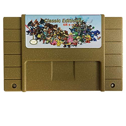 Classic Edition Super Games 68 in 1 Multi Game Cartridge for SNES -16 Bit Retro, Classic Game Consoles