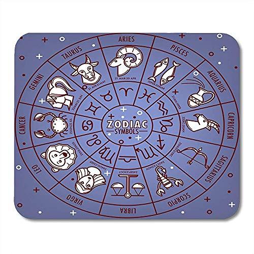 Muis Pads Astrologische Waterman Zodiac Horoscoop Tekenen Met Data Op Ster Kaart Ram Astrologie Muis Pad Voor Notebooks Muismatten