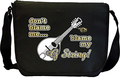 MusicaliTee Mandolin Blame My G String - Sheet Music Document Bag Musik Notentasche