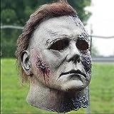 spier Halloween Michael Myers Maske, Horror Latex Narbe Gesicht Bedeckende Halloween Dekoration Requisiten für Karneval Ostern und Maskerade
