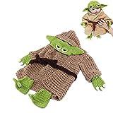 Baby FotoShooting Baby Yoda Fotografie-Outfit, Baby-Fotografie Stützen Handgestrickter Für 0-6...