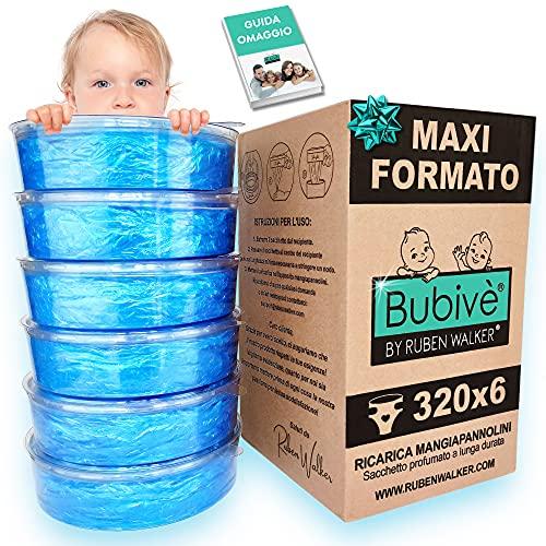 Ricarica Maialino Foppapedretti compatibili sistema smaltimento pannolini Angel care (6-pezzi 1920 pannolini) sacchetto profumato | Design Registrato®