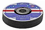 Discos de corte profesionales, 25 unidades, diámetro de 115 mm, 1 mm de grosor, para amoladoras flexibles, de corte y de ángulo, acero inoxidable, discos de corte y flexibles.