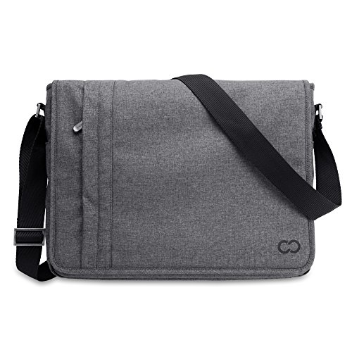 CaseCrown Microsoft Surface Book 13 Inch Campus Horizontal Messenger Bag (Charcoal Gray)