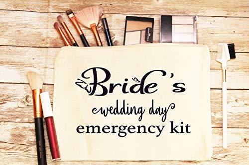 Braut-Notfall-Set Tasche, individuelles Geschenk für Braut, Hochzeitsgeschenk, Braut-Notfall-Set, Braut-Survival-Kit, Make-up-Tasche, Hochzeitsduschgeschenk