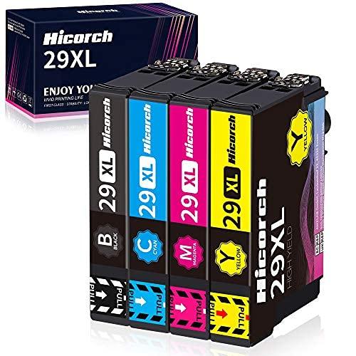 Hicorch 29XL Multipack para Epson 29 Cartuchos de Tinta Compatible con Epson Expression Home XP-235 XP-245 XP-247 XP-255 XP-342 XP-332 XP-335 XP-345 XP-355 XP-432 XP-435 XP-442