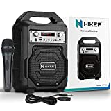 HIKEP Portable Bluetooth Karaoke Machine, Wireless PA Speaker System Voice Amplifier with Handheld