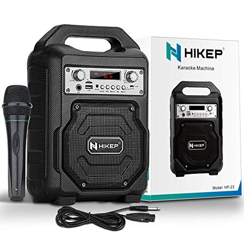 HIKEP Portable Karaoke Machine for Kids Adults,...