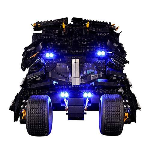Kit de iluminación creativa LED para (Technic Super Heroes Batman Batmobile) Modelo de bloques de construcción, juego de luces compatible con Lego 76023 juguetes para niños (No incluye el juego Lego)