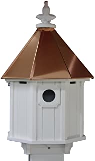 Octagon Bird House Song Bird Cellular PVC Copper Roof Made In the USA