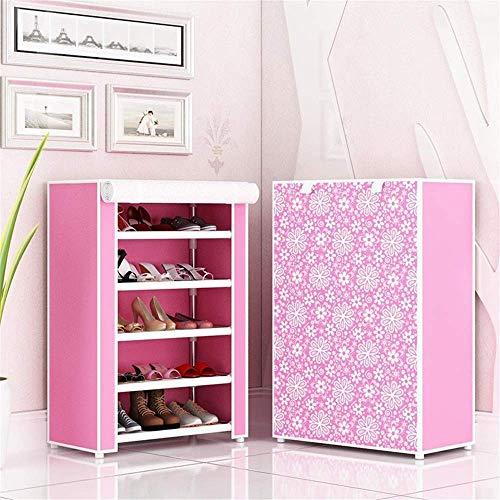 Decoración de muebles Gabinete de zapatos plegable Caja de zapatos Zapato de almacenamiento de un solo compartimento simple Bricolaje Ensamblado Estante de zapatos a prueba de polvo Estante de zapa