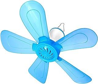 Ventilador de techo Azul de Cinco Hojas hogar Dormitorio de Estudiantes mosquitero Ventilador silencioso Mini Ventilador de Ahorro de energía jardín Infantil