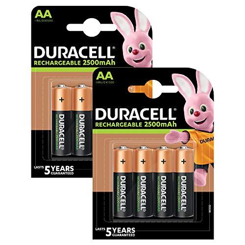 Duracell Akumulatory AA 2500 mAh idealne do kontrolera Xbox, 8 sztuk (tylko w serwisie Amazon)