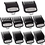 """Clipper Guards Cutting Guides for Wahl with Metal Clip #37-500 – /8"""" to """"– Fits All Full Size Wahl Clippers (Pack of 10)"""