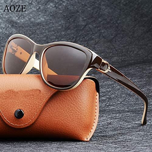 TEYUN Aoze de Lujo de Lujo diseño Gato Ojo polarizado Gafas de Sol para Mujer Dama Elegante Gafas de Sol Femenino conduciendo Gafas oculos de Sol UV400 (Color : B)