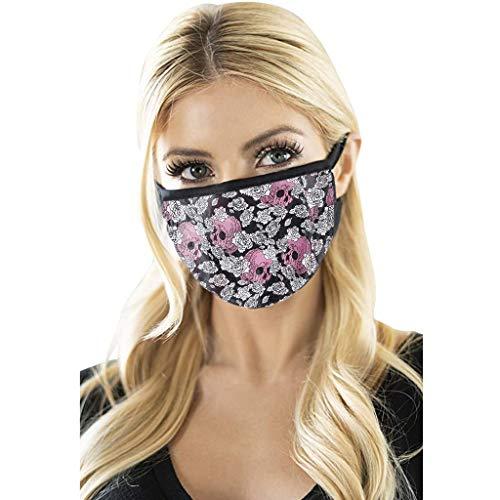 Halloween Adult Atmungsaktiven für Mund und Gesicht Ohrbügel Waschbarer Wiederverwendbarer Bedruckter Winddicht Skelett Schutz Weicher 2pc