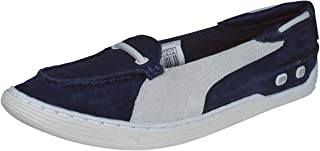 PUMA Decker Slip On Womens Suede Leather Deck/Boat Shoes