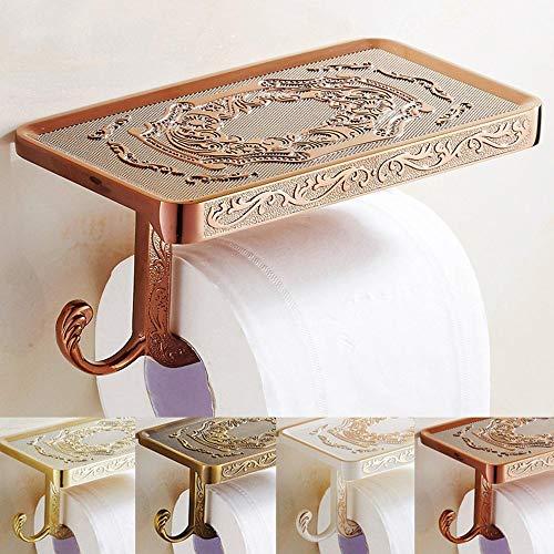 HXiaDyG Toiletpapierhouder, rolstandaard, wandmodel, badkamer, toiletpapierhouder, weefselopbouw, 2 kleuren, toiletpapierhouder